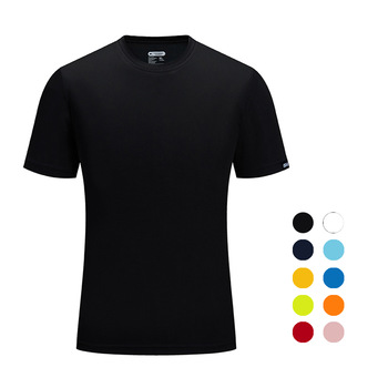 Brand SANHENG Men Summer Casual Outdoor T-Shirt Sports Plus Size Sport Fast-Dry Breathable Tops