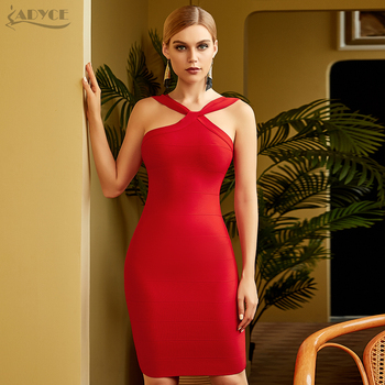 Adyce 2020 New Summer Women Red Bodycon Bandage Dress Sexy Sleeveless Strapless Nude Club Celebrity Evening Runway Party Dresses adyce off shoulder bodycon bandage dress women sexy red spaghetti strap knee length club celebrity evening runway party dresses