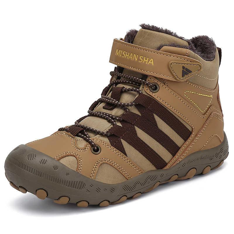 Winter Kids Boots Hiking Shoes Boys Warm Plush Boots Girls Outdoor Trekking  shoes Children Ankle Hiking Boots Anti Skid Sneakers Hiking Shoes  -  AliExpress