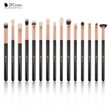 DUcare Eyeshadow Brush 15pcs/lot Makeup Brushes Set Eye Shadow Blending Eyeliner Eyelash Eyebrow Brush Makeup недорого