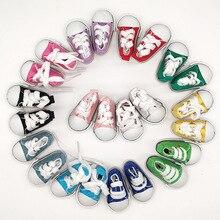 Accesorios de muñeca SD BJD 5CM, zapatos de lona para muñecas BJD, 50 par/lote, venta al por mayor