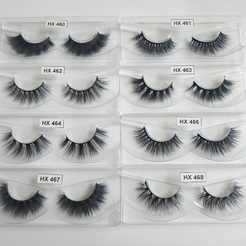 Hexuan Lashes Wholesale 30 Pairs/Pack Eyelashes 3D Mink Lashes With Tray No Box 100% Hand Made Full Strip Mink Lashes