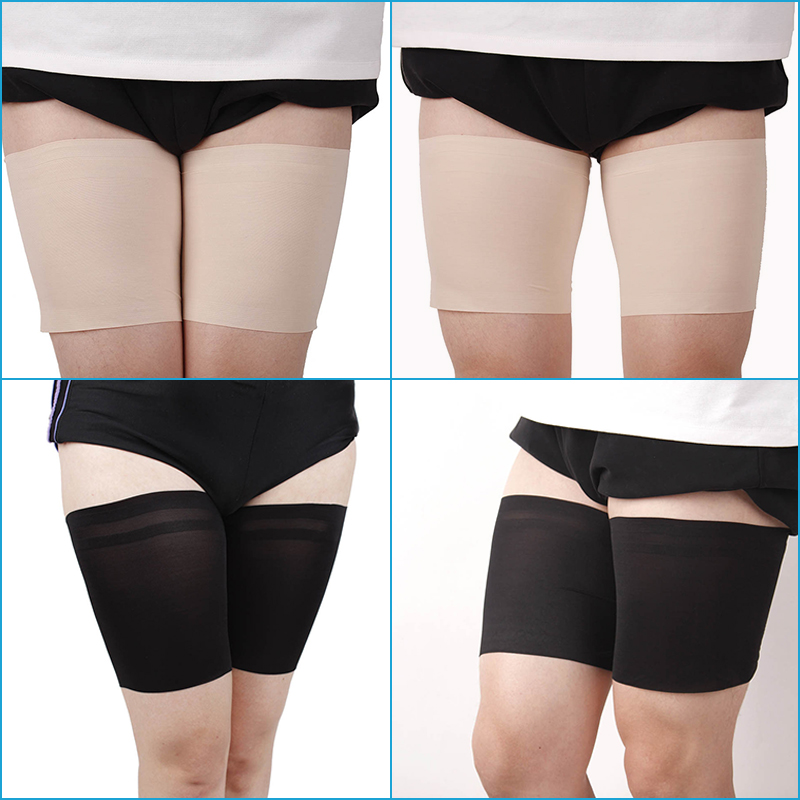<font><b>1</b></font> Pair Women Leg Anti Chafing Comfortable Thigh Bands <font><b>Ladys</b></font> <font><b>Sexy</b></font> Slim Leg Warmers Anti-slip High Thigh Leg Stockings Warmers image