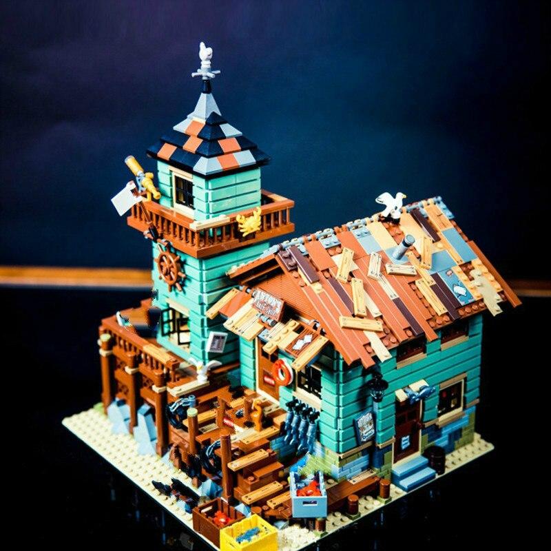 16050 идеи серии фильмов старый рыбацкий магазин пляжный курортный дом строительные блоки кирпичи игрушки подарок для детей 21310