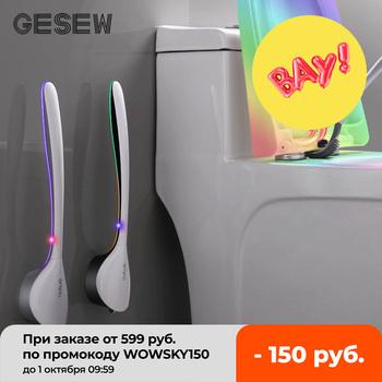 GESEW nowa silikonowa szczotka do WC uchwyt ścienny szczotka do WC zestaw do łazienki WC narzędzia do czyszczenia zestaw do czyszczenia narożników łazienka tanie i dobre opinie CN (pochodzenie) Toilet Cleaning Brush Na stanie Ekologiczne Gray Black Wall-mounted long-handled toilet brush TPR soft brush head