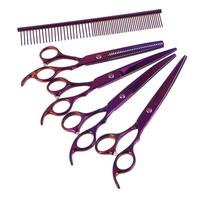 1 Set 7 Inch Pet Dog Safety Scissor with Comb Grooming Thinning Animal Cutting Scissors Tools Pet Scissors Supplies