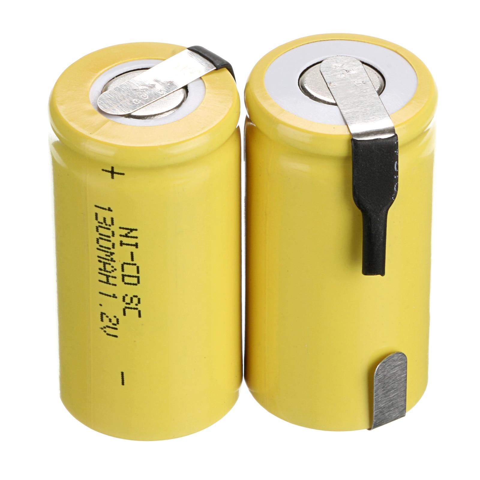 2 ~ 16 шт 1300mAh nicd 1,2 v батарея sub c sc 1,2 v ni cd ni cd аккумуляторы желтый Перезаряжаемые батареи      АлиЭкспресс