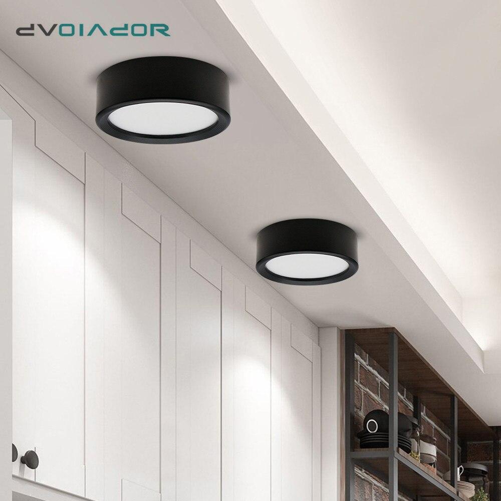 Montowane na powierzchni Led typu downlight Ultra cienki sufitowy reflektor Led 3W 7W 9W lampa świecąca W dół do salonu sypialnia korytarz Hotel Store