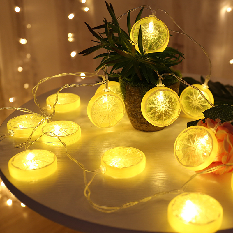Lemon Slices String Lights Christmas Home Decoration Garland USB LED Light String 10-80 LEDs Fairy Lights For Wedding Decor