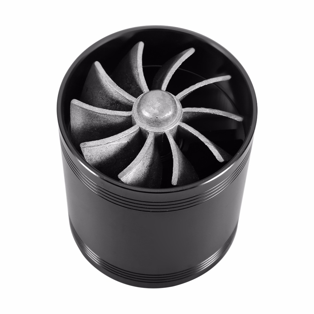 "2.5/"" Super Air Intake Turbo Turbine Turbonator Eco Fuel//Gas Saver Fan Chrome"
