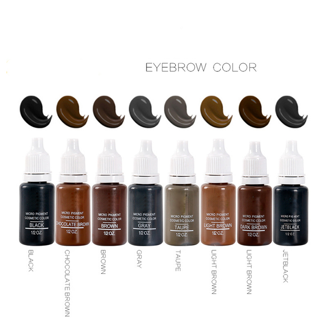 8Colors Tattoo Ink microblading Pigment for Semi Permanent Makeup Eyebrow Ink Lips Eye Line Tattoo Color Natural Plant
