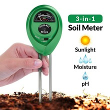 цена на 3-in-1 Soil Test Kit for Moisture/Light/pH Test Plant Care Soil Tester Soil PH Meter Plants Flowers Moist Tester Gardening Tools