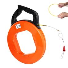 98FT (30m)  4mm Diameter Fiberglass Electrical Fish Tape Reel, Great for Pull Line