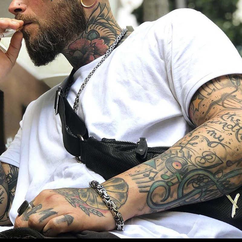פופולרי סגנון ביזנטיון קישור צמיד שרוול נירוסטה תכשיטי גברים
