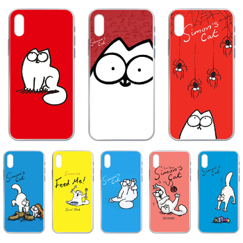 Simons Cat Phone Case cover For iphone 4 4S 5 5C 5S 6 6S PLUS 7 8 X XR XS 11 PRO SE 2020 MAX transparent prime silicone shell image