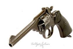 Revolver Webley pedido personalizado alta calidad modelos digitales de alta precisión servicio de impresión 3D objetos clásicos ST2069