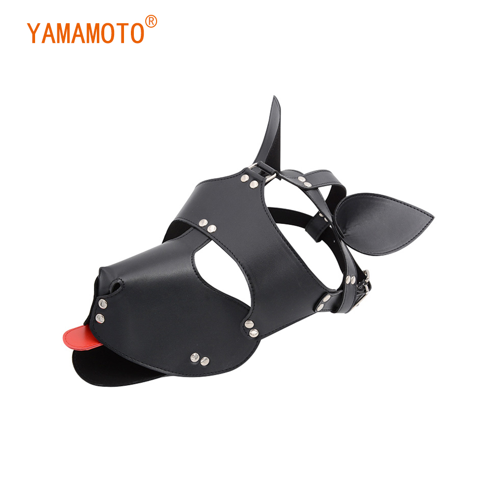 <font><b>Sex</b></font> Adult Interest <font><b>Dog</b></font> Props Headgear SM Role Play Puppy Full Head <font><b>Mask</b></font> Sexy Cosplay Accessories for Lady Women Girls image