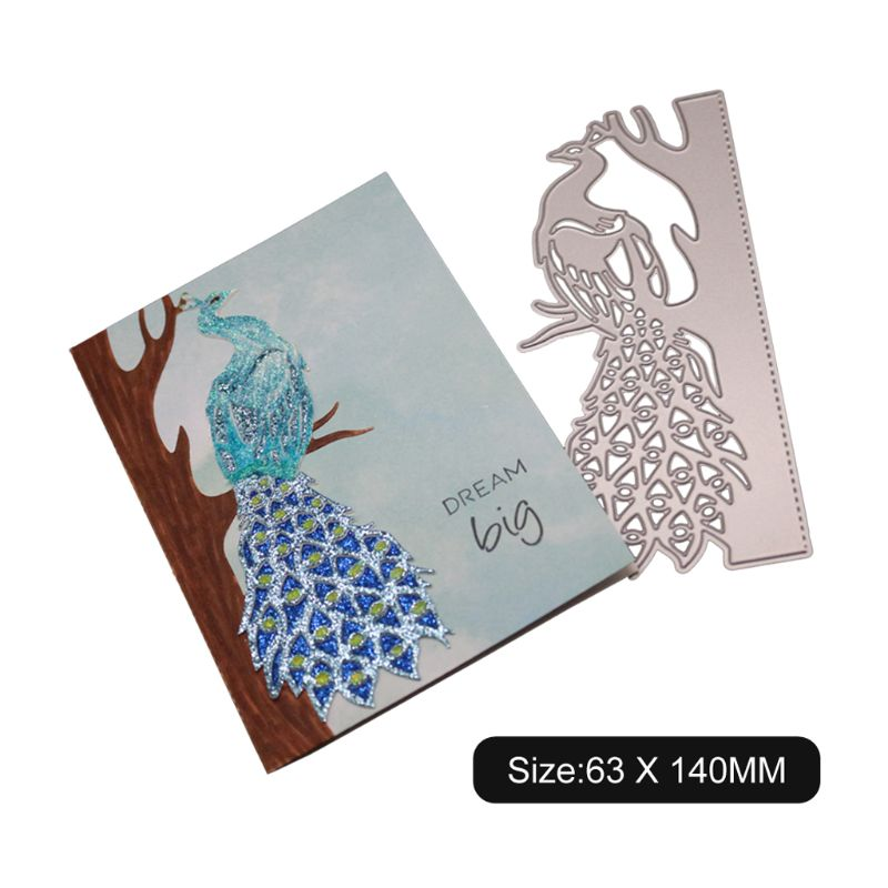 Lovely Peacock Cutting Dies Stencils Scrapbooking Album Embossing Paper Card FO