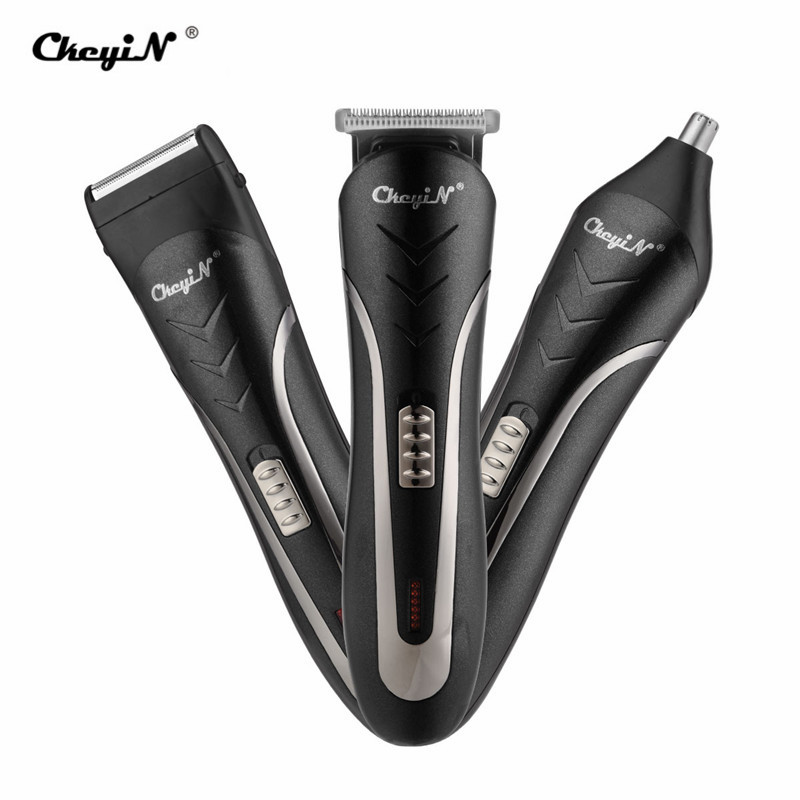 3 In 1 Professional Hair Trimmer Men's Hair Clipper Rechargeable Nose Beard Trimmer Electric Shaver Waterproof Cutting Machine45
