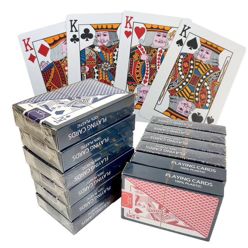 1 Box/12 Deck Quality Waterproof PVC Plastic Playing Cards Set Trend Poker Classic Magic Tricks White Poker Cards Box-Packed
