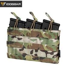 حقيبة مجلة IDOGEAR ثلاثية 5.56 كيس ماج مفتوح من الاعلى معدات الجيش الايرسوفت المناورات مجلة الحقائب العسكرية التكتيكية 3526