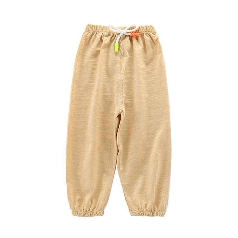 New Summer Girls And Boys Casual Loose Ultra thin Bunch Foot Lantern Pant Little Child Anti mosquito Harem Trousers in Pants from Mother Kids