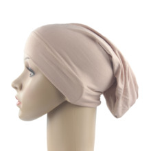 مسلم النساء الفتيات وشاح قبعة القطن تنفس قبعة المرأة عمامة مرونة غطاء رأس القماش قبعة السيدات إكسسوارات للشعر تُباع بالجملة
