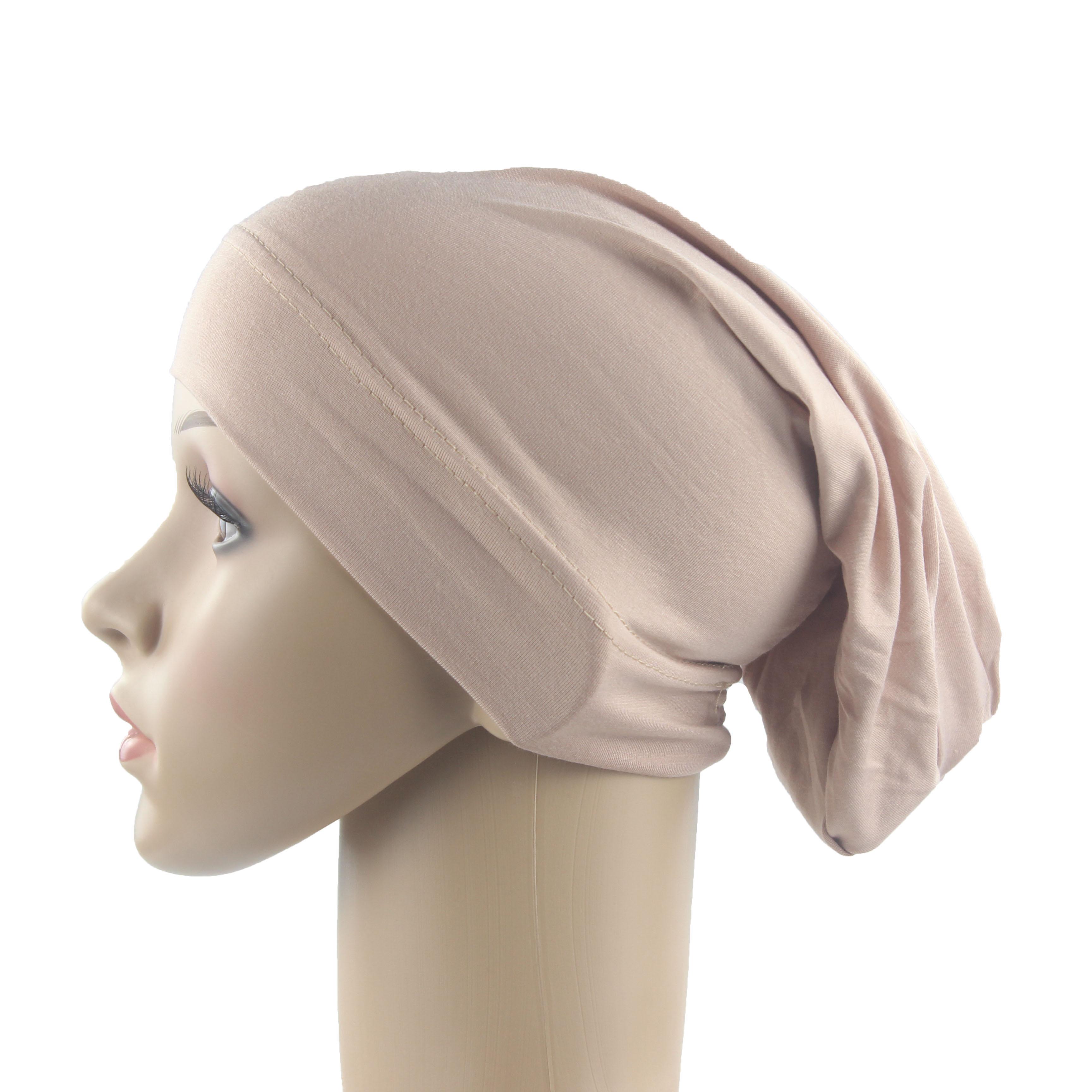 Femmes musulmanes filles écharpe casquette coton respirant  chapeau femmes Turban élastique tissu tête chapeau dames cheveux  accessoires en grosIslamique Vêtements