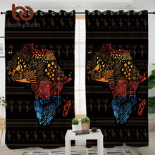 BeddingOutlet African Map Blackout Curtains GeometricLivin