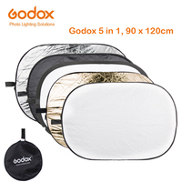 GODOX 90*120cm 5 in 1 Background Board Round Rectangle Reflector Collapsible Lighting Diffuser Disc Black Silver Gold White