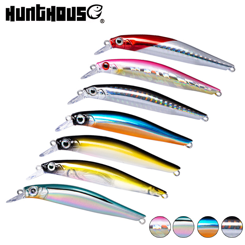 Hunthouse 7pcs Artist Minnow Fishing Trout Lure Silence Jerkbait Hard Bait Seabass Twitch Action 70mm 7g 80mm 8.5g Lw401 Fake
