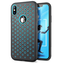For iPhone X Xs Case 5.8 inch SUPCASE UB Sport Liquid Silicone Rubber Premium PC Hybrid Cover Hole Pattern with Heat Dissipation