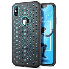 ل iPhone X Xs حافظة 5.8 بوصة SUPCASE UB الرياضة السائل سيليكون المطاط قسط PC الهجين غطاء حفرة نمط مع تبديد الحرارة