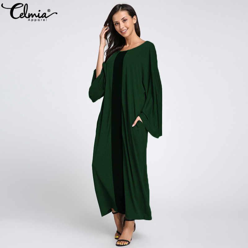 ĐầM Nữ ĐầM Maxi Dài Celmia 2020 Thời Trang Mùa Thu Tay Loe Dáng Rộng Đảng Đầm Maxi Đầm Vestido Áo Dây Plus Kích Thước Sundress