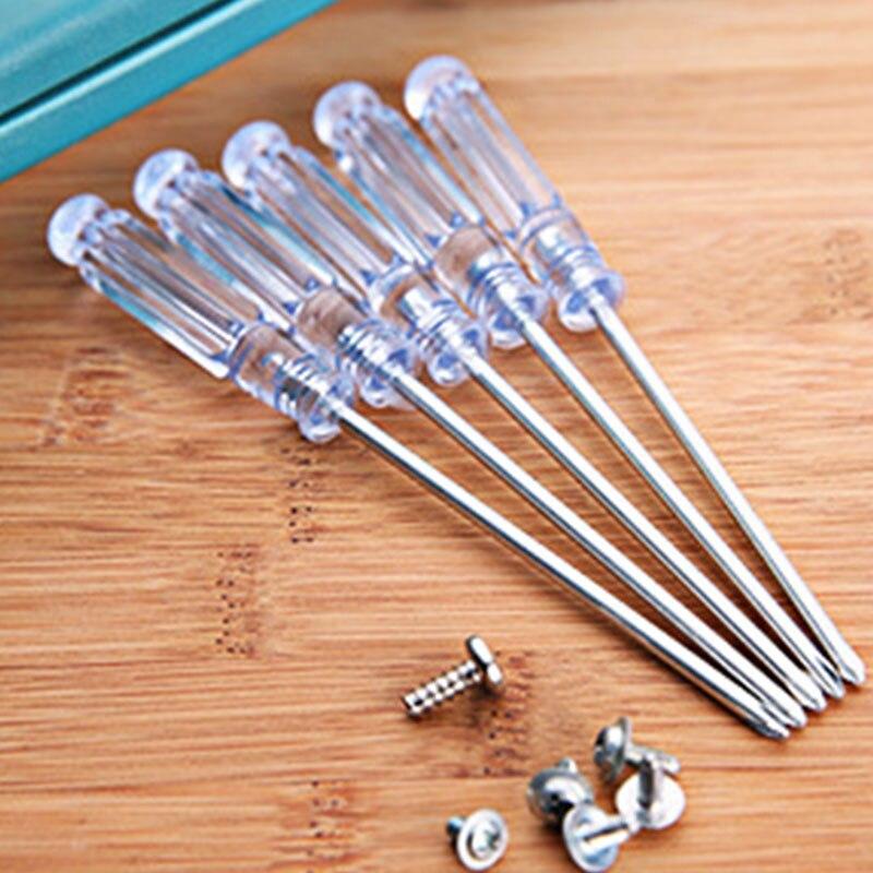Профессиональная беспроводная акриловая ручка Крест/плоский нож отвертка дрель мощность - Цвет: Белый