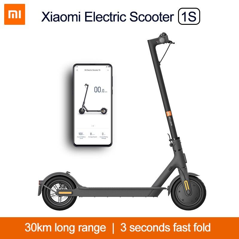 Xiaomi Mi электрический скутер 1S MIJIA Смарт e самокат электрический скейтборд мини взрослых Электрический мотор складной ХОВЕРБОРДА Escooter M365 обно...