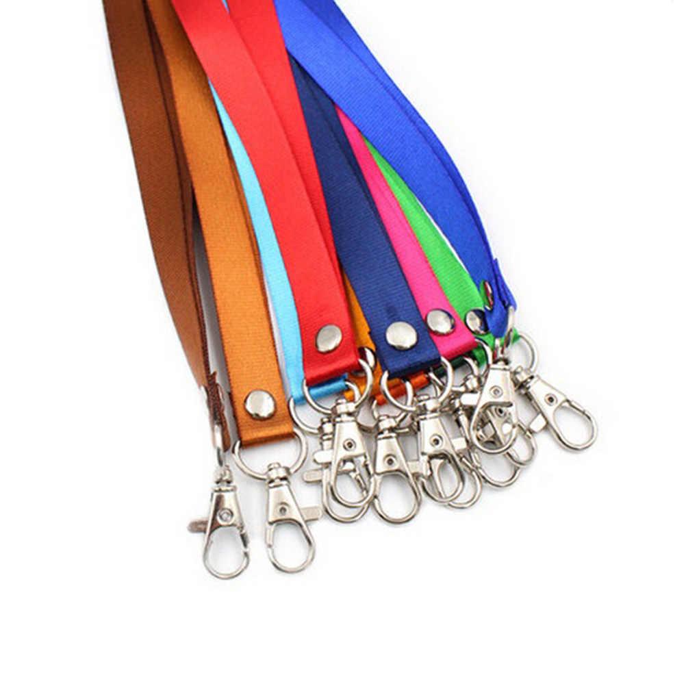 1 Pza correa para el cuello cordón de seguridad para teléfono móvil USB titular insignia de identificación para nombre titular llaves Metal Clip