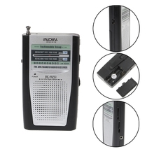 Przenośny Mini Slim Radio 2-Band AM FM na całym świecie odbiornik DC 3V antena teleskopowa BC-R20