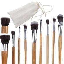 11Pcs Foundation Brush Make Up Brushes Bamboo Handle Makeup Kit Eye Practical Tools