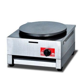 Máquina de tortitas eléctrica para tortitas de fruta, cocina de clase de Gas de un solo cabezal de DE-1A, máquina de horno para crepes fritos
