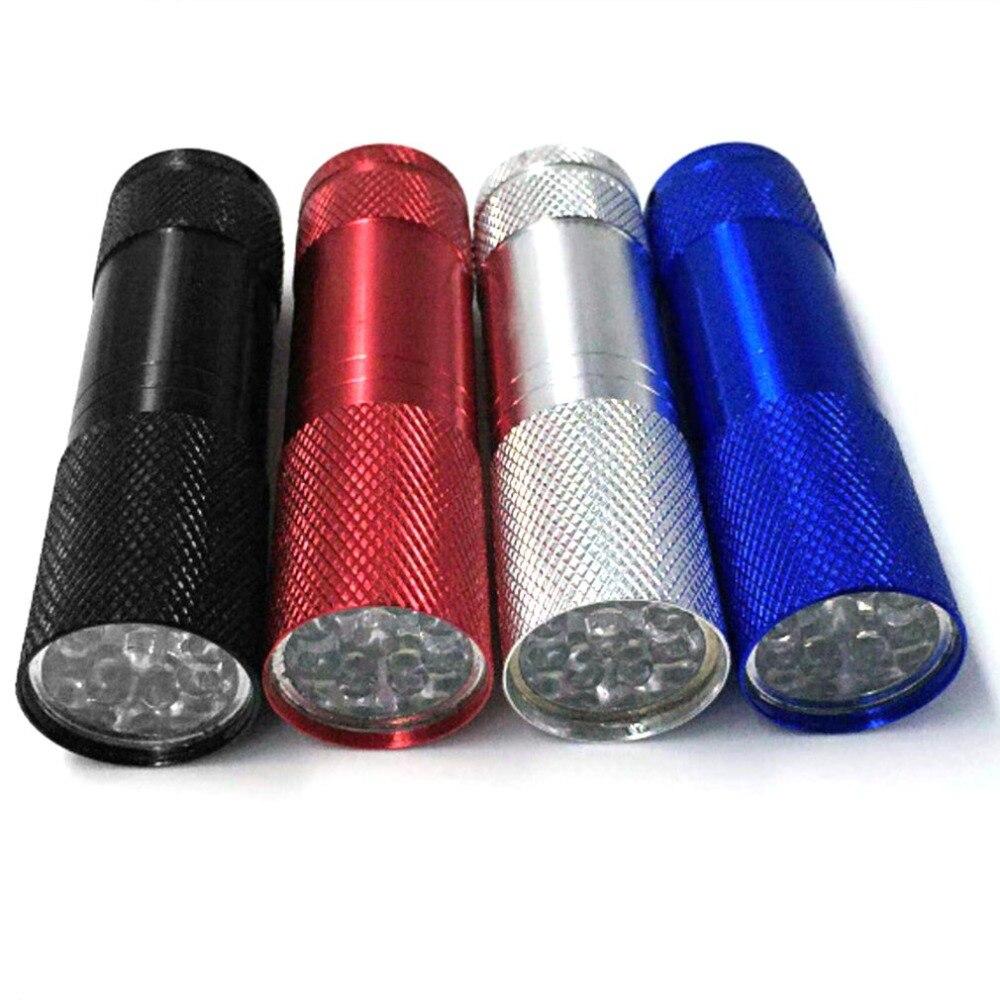 Portable UV Flashlight Torch Light Ultra Violet Light Blacklight UV Lamp Battery For Marker Checker Detection