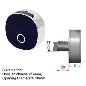 Image 3 - Cerradura inteligente de huella Digital cerradura de puerta de madera cerradura electrónica de seguridad Archivo de alarma cajón cerradura armario de oficina aleación de Zinc