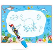 Обучение маленьких детей мультфильм акварель ткань граффити одеяло