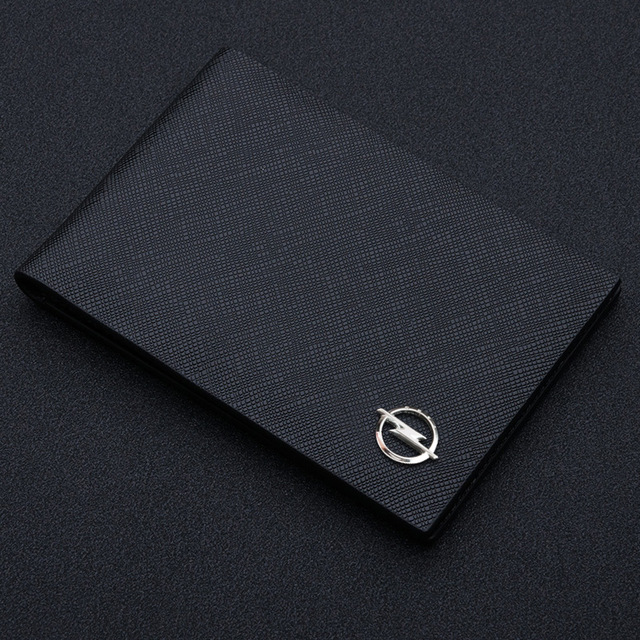 Ultra Thin Auto Driver License Bag PU Leather on Cover for Car Driving Documents ID Card Holder Purse Case for Opel car