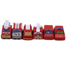 Gadgets Children Toys Cars Mini for Birthda 6pcs Fire-Model Pull-Back Race Novelty Fun