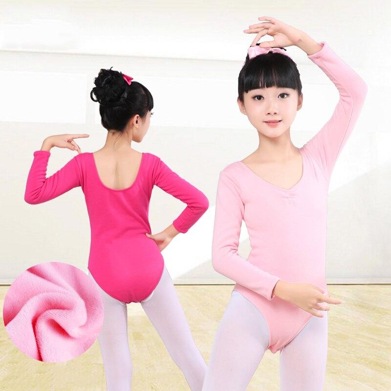 New Autumn Winter Warm Velvet Ballet Dance Leotard Girls Kids Thick Gymnastics Leotard Children Dance Costumes