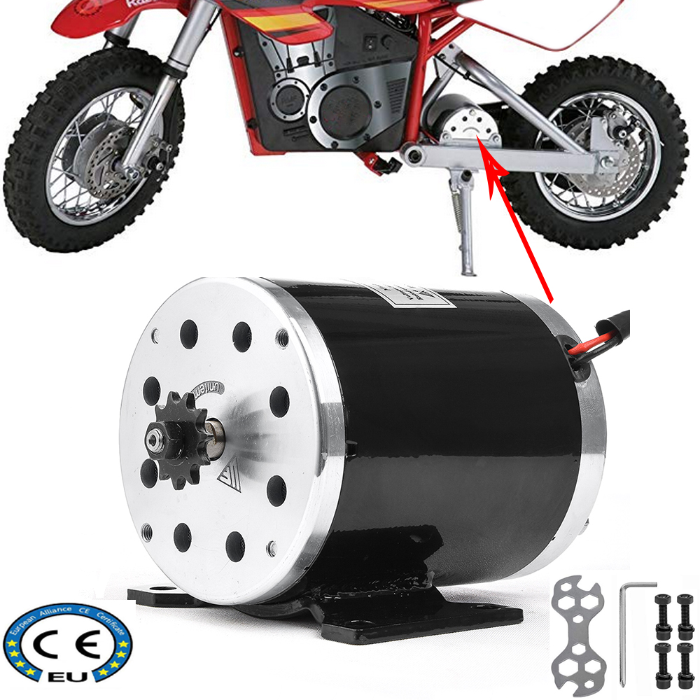 36V 48V <font><b>500W</b></font> 1000W High Speed Brushed DC <font><b>Motor</b></font> for <font><b>electric</b></font> vehicle Go Kart <font><b>Scooter</b></font> E Bike Motorized Bicycle ATV Moped Mini Bike image