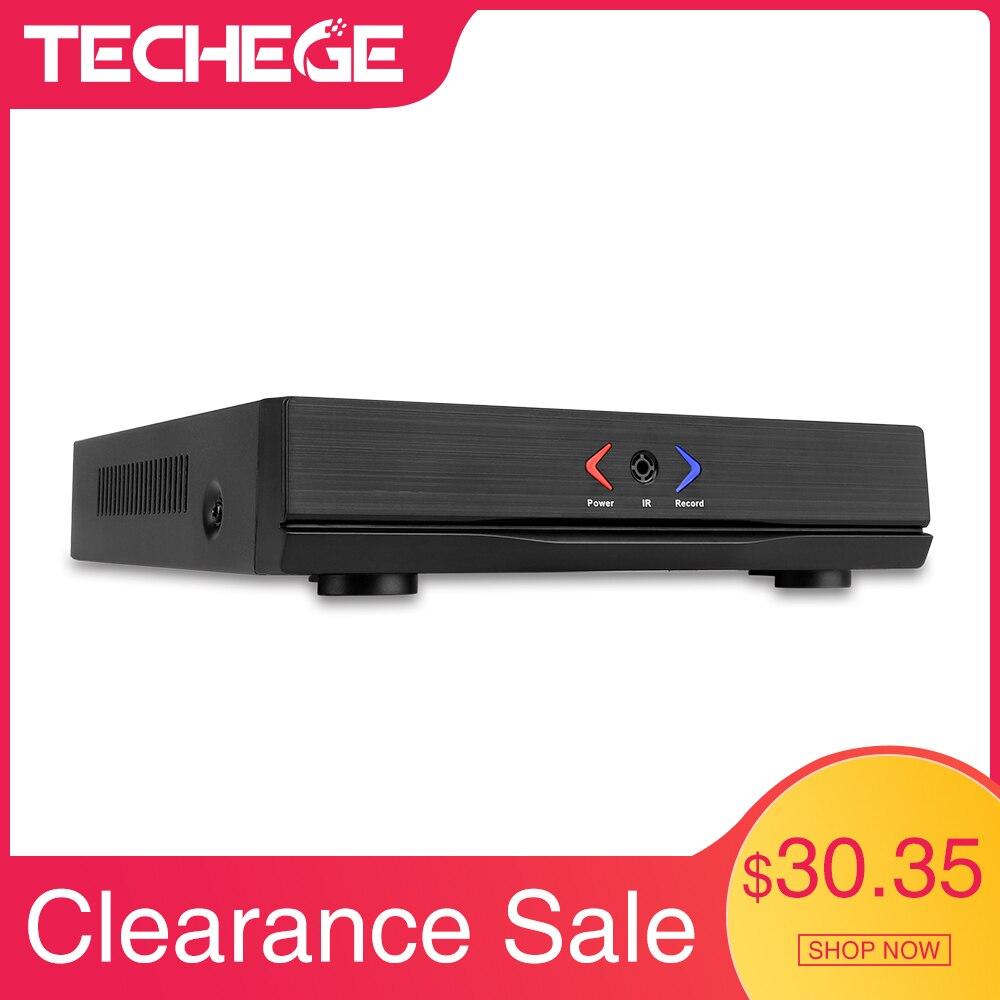 Мини-видеорегистратор Techege, 4 канала, 8 каналов, Full HD, NVR, 1920*1080 P, P2P, ONVIF 2,0, для IP камеры, HDMI, сетевой видеорегистратор