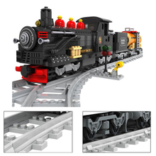 Building Blocks City Train Power-Driven Diesel Rail Cargo With Tracks Set Model carriage Locomotive rails Toys for Children Kid 98219 98220 compatible city series power driven diesel rail train cargo with track set model building blocks toys for kids