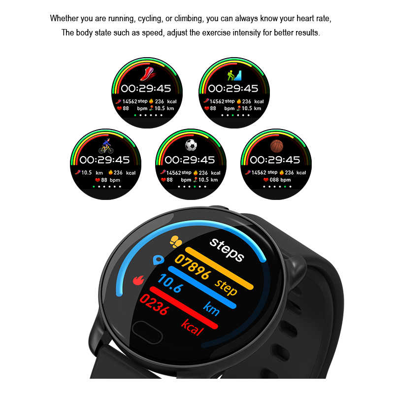 Bluetooth Smart Watches for Girls Color Screen Leather Strap with Heart Rate Blood Oxygen Monitor IP67 Waterproof Smartwatch